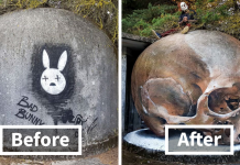 Portuguese Street Artist Paints 3D Creature Graffiti And It's Not For The Faint Of Heart