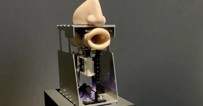 Here's A Disembodied Robot Mouth Singing A.I. Generated Prayers