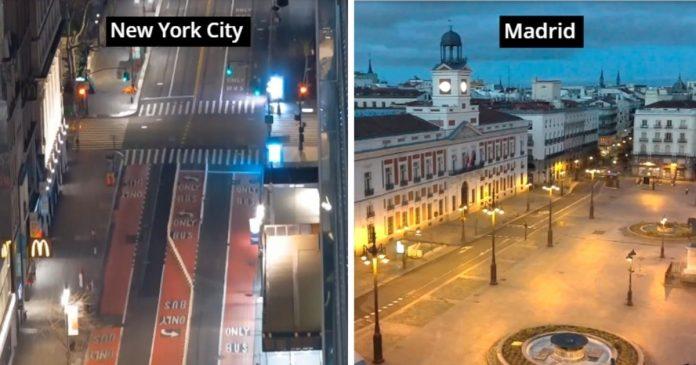 Webcams Capture Times Square, Vatican, Pisa, All Vacant