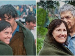 Couple Recreates 50-Year-Old Woodstock Photo Showing Beginning of Their Relationship