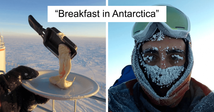 Astronomer Shows What Happens When Trying To Cook In Antarctica At -70ºC