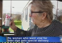 93 Year Old Woman Gets Beer