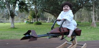Dad Builds 'Star Wars' Themed Rocking Horse For Daughter's First Birthday