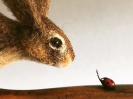 Old Brushes Brought Back To Life By Needle Felted Charming Sculptures