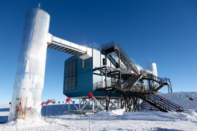 IceCube Neutrino Observatory in Antarctica.