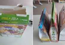 Mom Demonstrates The Right Way Of Closing Cereal Boxes
