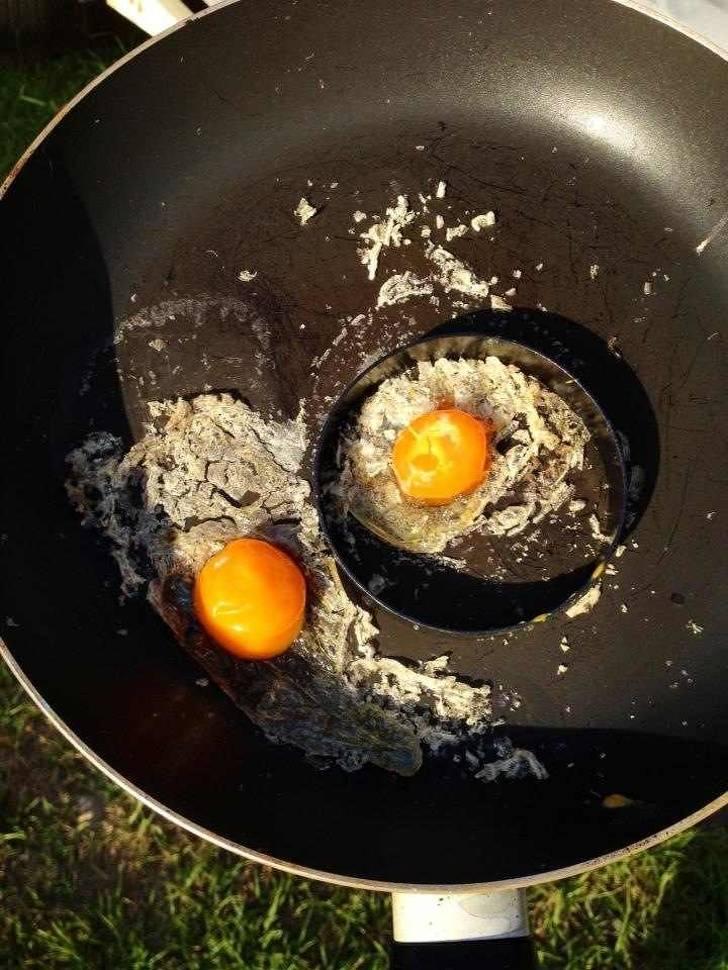 burnt egg