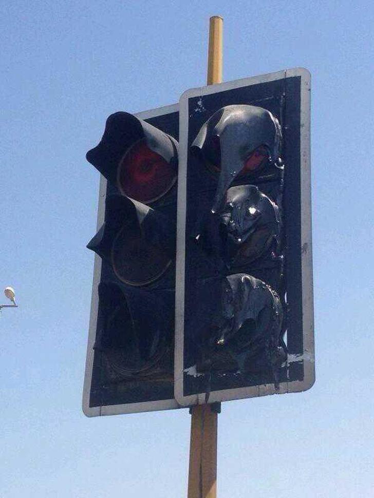 Melting traffic lights