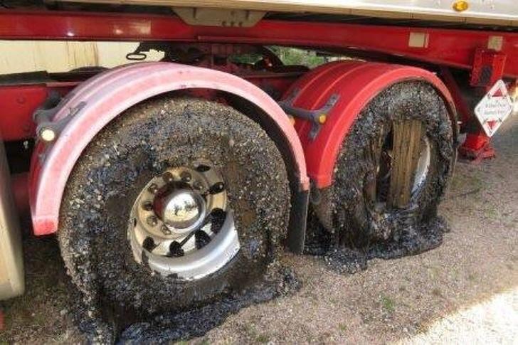 Melting tyres