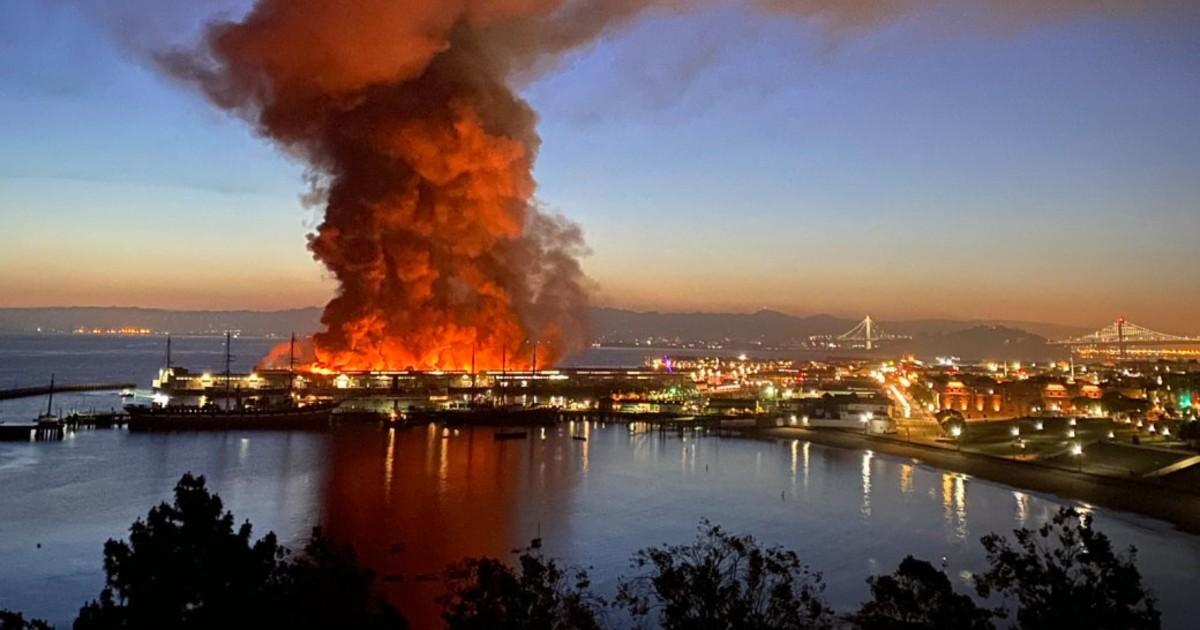 San Francisco Feuer Pier 45
