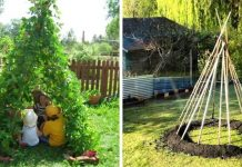 People Are Growing Bean Pole Garden Tents For Their Children