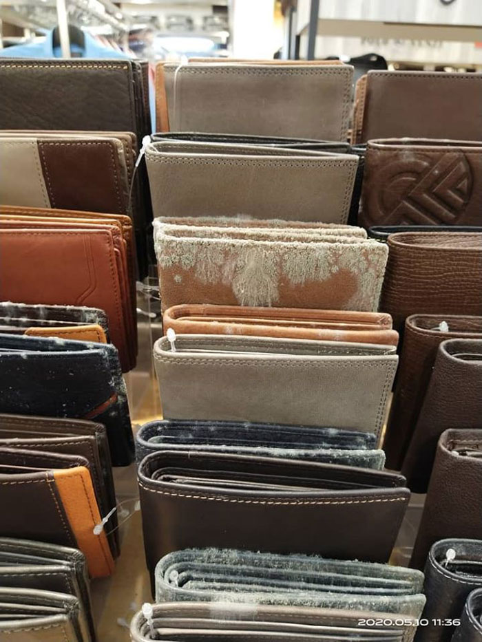 Business Reopens After 53 Days Of Lockdown Only To Discover All Leather Products Molded