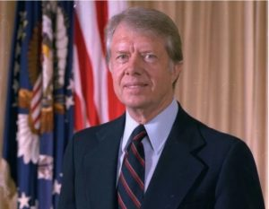The former US president Jimmy Carter