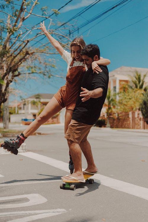 A couple is having fun