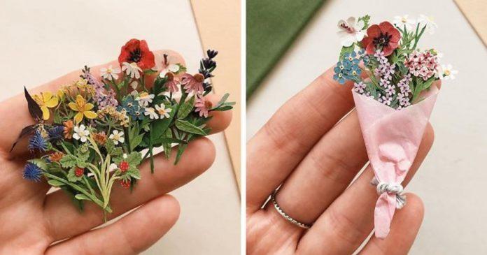 Micro-Sized, Beautiful Plant Paper By Tania Lissova