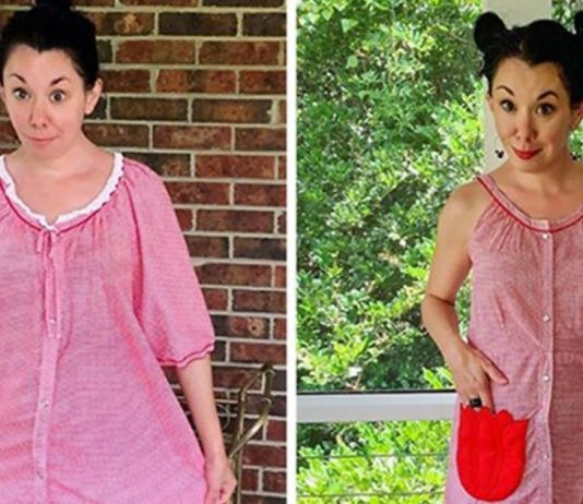 This Lady Remodels $1 Clothes Into Stunning outfits