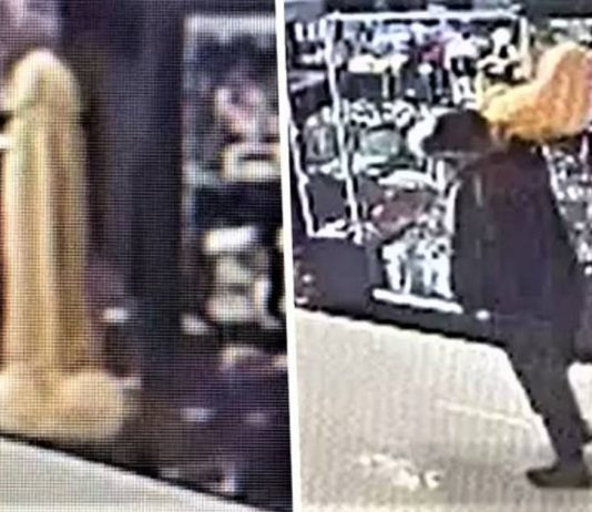 An Unidentified Man Stole A 3ft Dildo From A Sex Shop